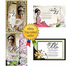 PSD Photoshop Templates for  Quinceaneras  Invitations ,Vol. 5 and  Tickets