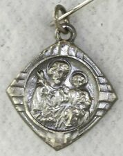 VINTAGE 1930'S ART DECO SMALL STERLING SILVER CATHOLIC ST ANTHONY MEDAL CHARM