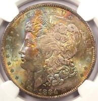 1884-O Toned Morgan Silver Dollar - NGC MS63 - RAINBOW Toning!