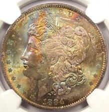1884-O Toned Morgan Silver Dollar - NGC MS63 - RAINBOW Toning!