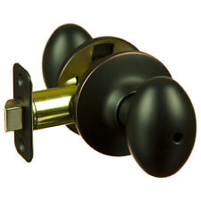 Lot of 10 Hensley Oil Rubbed Bronze Privacy Egg Door Knobs (Bed & Bath)