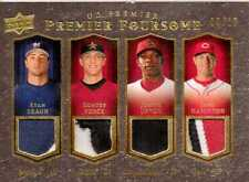 2008 UD Premier Quad Patch Ryan Braun/Josh Hamilton/Hunter Pence/Upton 09/10