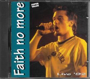 """FAITH NO MORE - RARO CD ITALY ONLY 1995 """" LIVE '92 """""""