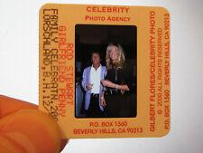 More details for original press photo slide negative - rod stewart & penny lancaster - 2000