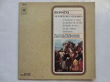 ROSSINI Ouvertures celebres New York Philharmonic LEONARD BERNSTEIN SPR 25