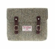 Authentic Harris Tweed iPad Case Oatmeal/Green Fleck LB1015 COL 3