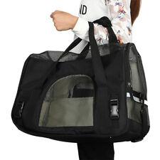 Pet Carrier Soft Sided Large Cat / Dog Comfort Black Travel Bag Airline Approved