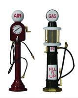 RARE NIP LEMAX VILLAGE Gas & Air Pump Service Pumps SET OF TWO - Acceasory