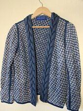 BLUE WILLI'S Women's Long Sleeve open front cardigan sz M Blue
