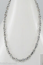 """23"""" Solid Sterling Silver Skull Chain Necklace 4mm SEXY GOTH Unisex Must See 28g"""