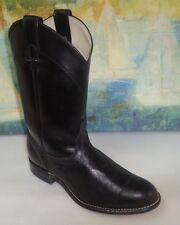 LAREDO Made in U.S.A. black leather western cowboy boots sz 8.5 M
