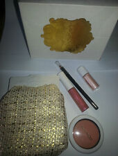 Mac Keepsake cara Kit Blush, Forro, Lipglass Pigmento Ltd Ed BNIB Regalo De Navidad