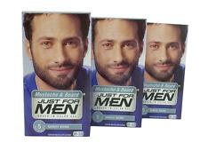 Just For Men Mustache & Beard Brush In Color Gel Darkest Brown M-50 Lot Of 3 New