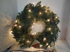 """Balsam Hill Christmas Wreath 24"""" Clear Lights Balsam Fir"""