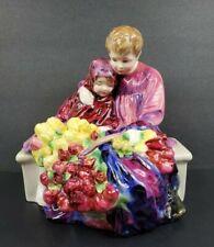 """Vintage Royal Doulton 7 3/4"""" Figurine The Flower Seller'S Children Hn1342 Tulips"""
