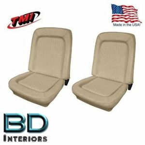 1968 - 1977 Ford Bronco Replacement Seat Upholstery - Front Buckets, Parchment