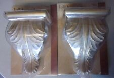 New 2 Decorative Drapery / Curtain Sconces by Kirsch Wood Painted Gold & White