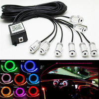 Car LED EL Strip Light Interior Decor Kit App ControlAtmosphere RGB Neon Lamps