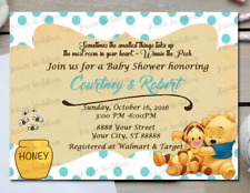 Winnie The Pooh Baby Shower Greeting Cards Invitations Ebay