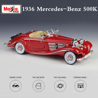 1936 Vintage Car Mercedes-Benz 500 K TYP Special-Roadster Alloy Model 1:18 Scale
