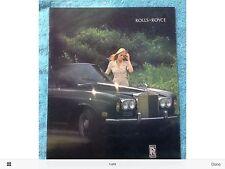 Vintage Original 1972 Rolls Royce Sales Brochure Corniche Silver Shadow 72 71