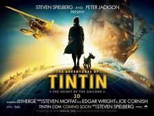 THE ADVENTURES OF TINTIN: THE SECRET OF THE UNICORN Movie Promo POSTER UK B