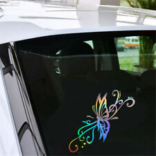 1x Funny Butterfly Flying Car Sticker Auto Vinyl Laptop Motorcycle Window Decal