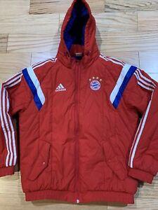 Adidas FC Bayern Munich Padded Winter Jacket Sz L F49514 Rare FCB