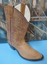 Old West Women Boots Tan Boots - 02092014 Women's size 7 B