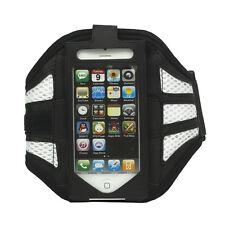 Joggen Sport Armband Hülle für iPhone 5 Case Cover Schutzhülle in Weiß