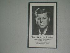 John Fitzgerald Kennedy Funeral Card