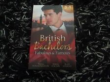 MILLS & BOON BRITISH BACHELORS FABULOUS & FAMOUS 3 IN 1 LIKE NEW 2017