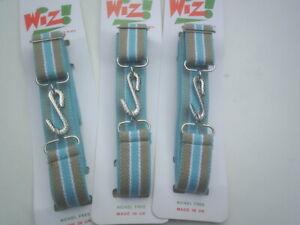 adults trendy elastic stripe snake belts  retro style metal buckle gold & blue