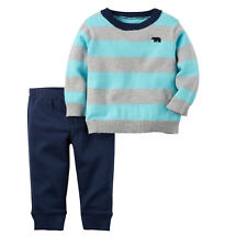 MSD Original Carter's Blue & Gray Sweater Set