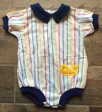 Vintage 80s Infant Baby Bliss Boy 9M 9 Months Little Squirt Whale One Piece
