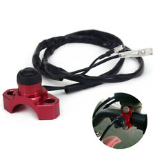 Universal Red CNC Motorcycle Engine Stop Start Switch Ignition Button Black NEW