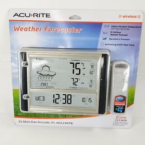 AcuRite Digital Weather Thermometer Forecaster Station w Wireless Outdoor Sensor