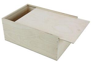 Holzbox mit Schiebedeckel ( 255 x 170 x 99 mm L/B/H innen )  Holzkiste Schachtel