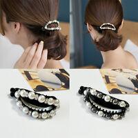 Women Pearl Hair Clip Snap Barrette Stick Hairpin Bobby Pin Hair Accessories new