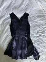 Bcbg Max Azria Women's Top Tunic Small S Black & purple Short Sleeve Rayon top