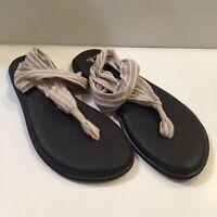 Tan Prints 1017882 Sanuk Women/'s Yoga Sling 2 Sandals White