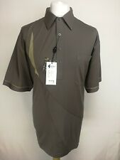 Gabicci Mens Polo Shirt, Size 2XL, Brown, Cotton Blend, New With Tags