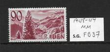 1948-49 Baden  90pf Brown Purple SG FB37 mounted mint