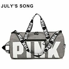 Women Gym Duffle Storage Bag Yoga Sport Pink Pattern Travel Outdoor Waterproof