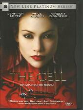 NEW LINE VIDEO, THE CELL, Jennifer Lopez, Vince Vaughn, 2000 Film, USED DVD