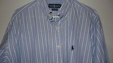 Ralph Lauren Yarmouth L/S Button Dress Shirt Men's 16 1/2-34/35 Blue Striped