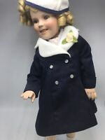 "Danbury Mint Shirley Temple 17"" Movie Premier Porcelain Doll w/ Stand"