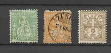OLD SWITZERLAND STAMPS USED AND UNUSED
