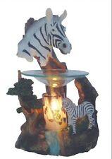 New African Zebra Fragrance Oil Burner Tart Warmer with Dimmer