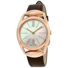 Gucci Horsebit Mother of Pearl Dial Ladies Watch YA140507